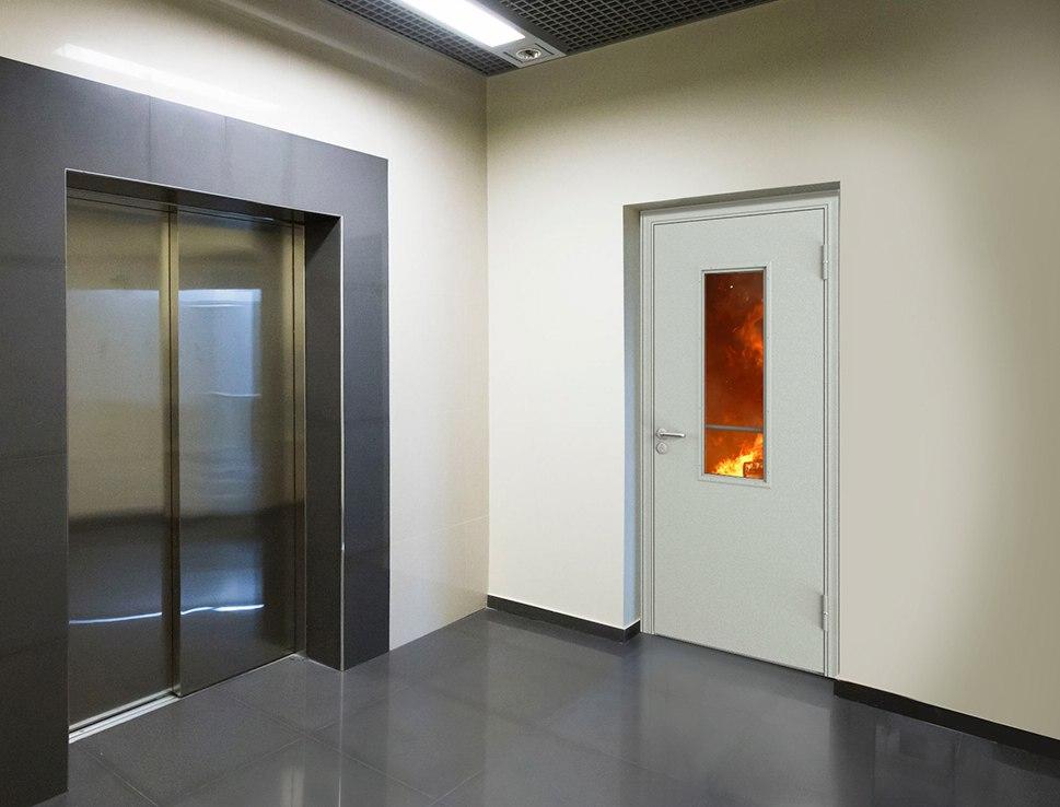 Остекленная противопожарная дверь Torex
