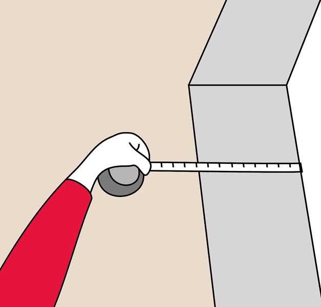 Измерение глубины дверного проема