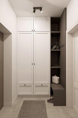 Шкаф распашной в маленькую прихожую (квадратную)