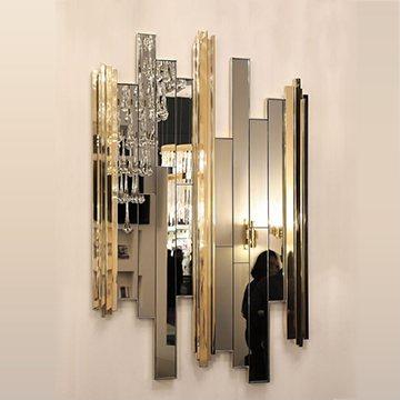 Вертикальные зеркала на стену