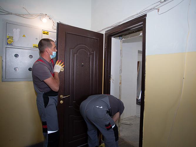 Демонтаж дверного полотна специализированной бригадой Torex