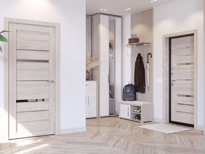 Белая входная и межкомнатная двери