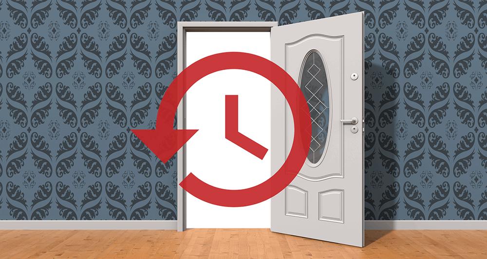 Временная дверь