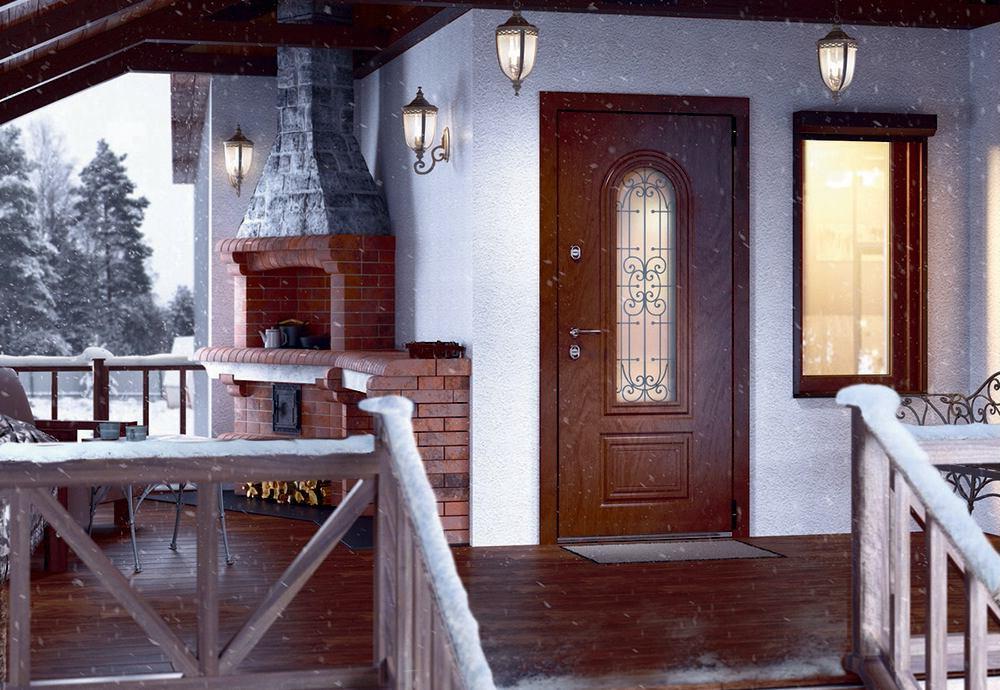 Входная дверь для дома Snegir Cottage